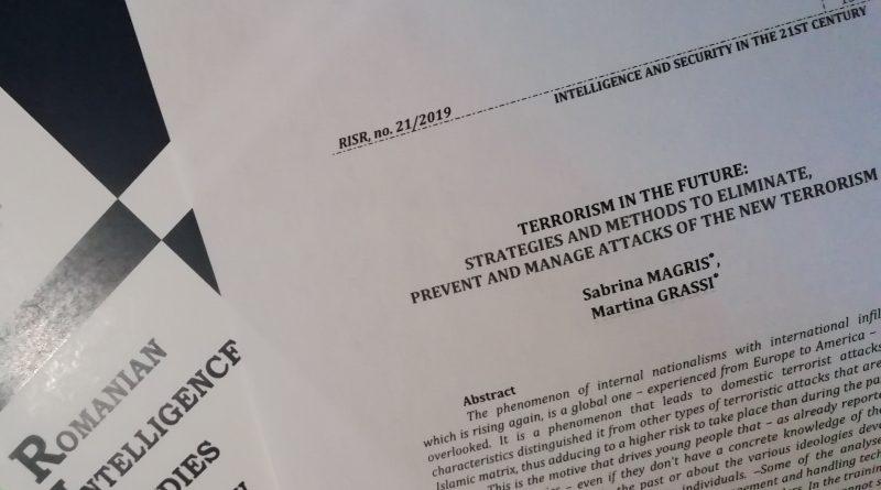 Terrorismo: pubblicazione scientifica internazionale