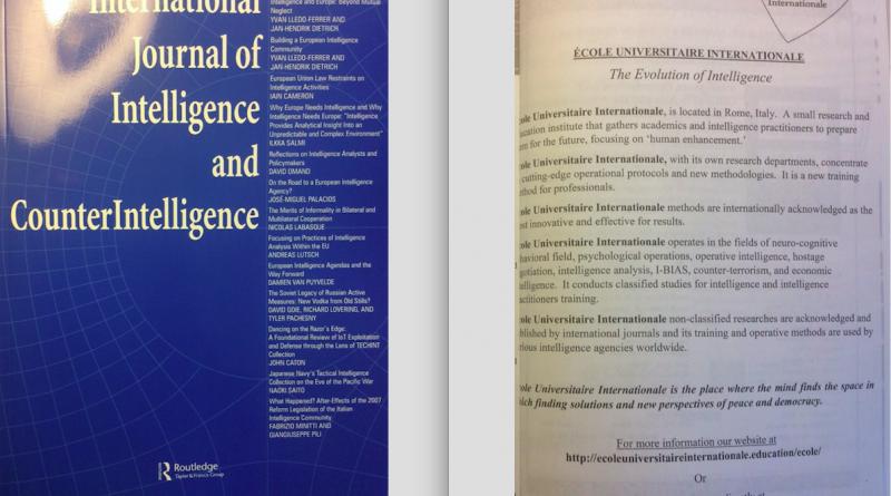 École Universitaire Internationale nella rivista di intelligence più autorevole e importante al mondo